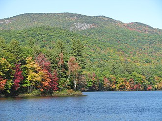 Ragged Mountain (New Hampshire) - Image: Ragged Mountain (New Hampshire) east side from Elbow Pond