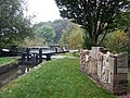 Railway Lock with Sculpture, Caldon Canal, Stockton Brook - geograph.org.uk - 600428.jpg