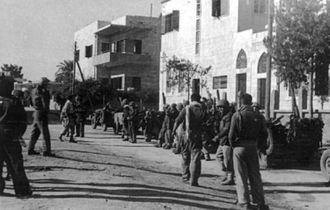 Harel Brigade - Ramleh, 1948. Harel 10th Battalion HQ.