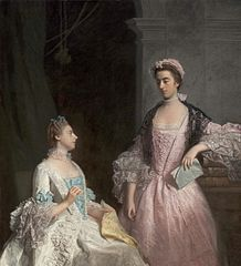 Portrait of Horace Walpole's Nieces: The Honorable Laura Keppel and Charlotte, Lady Huntingtower