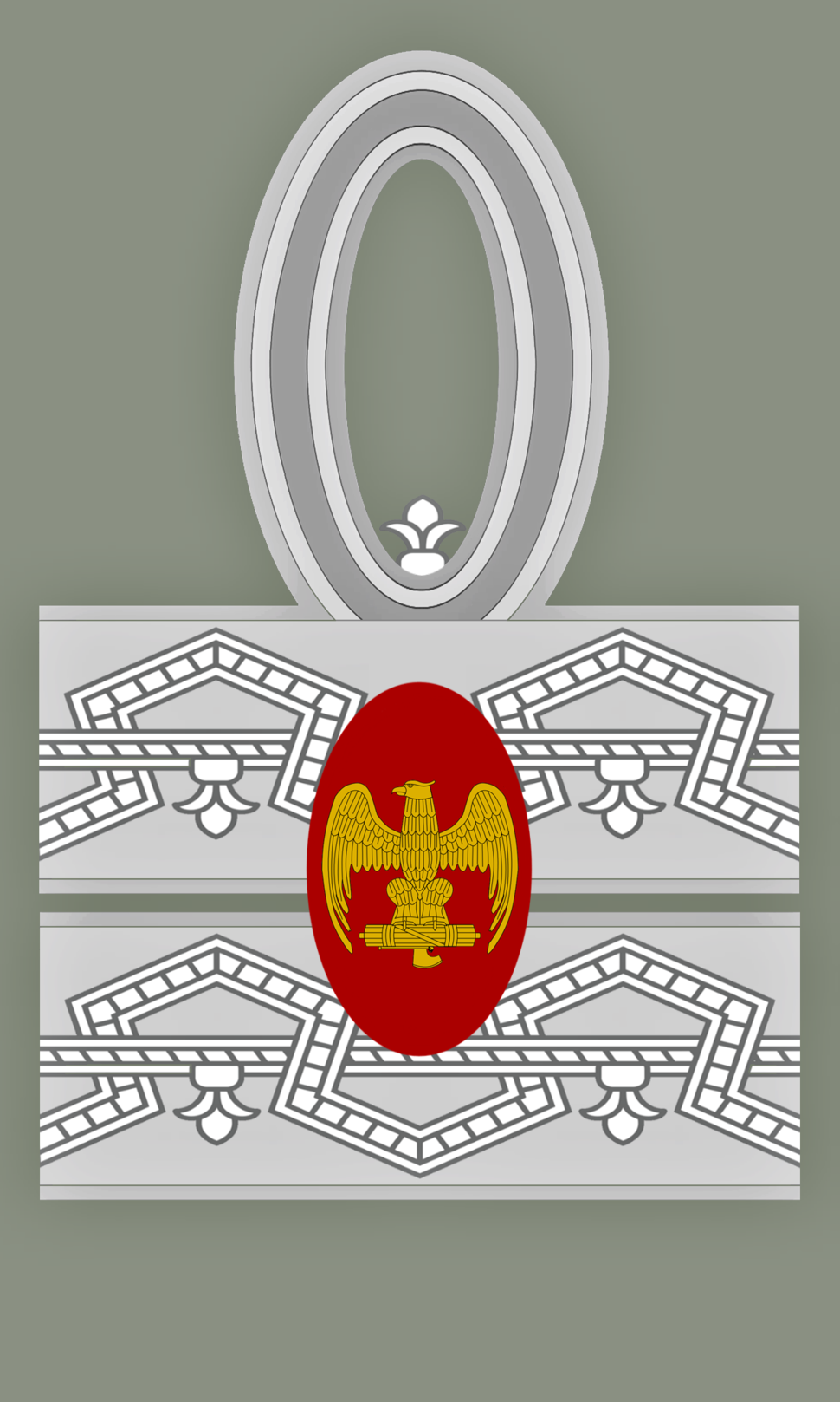 Rank insignia of primo maresciallo dell'impero of the Italian Army (1940)