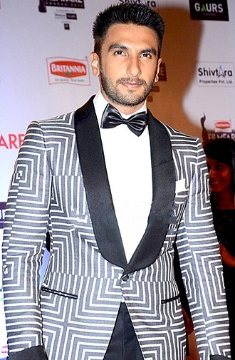 Ranveer Singh - Singh at the 61st Filmfare Awards ceremony, where he won the Best Actor award for portraying Bajirao I in Bajirao Mastani (2015)