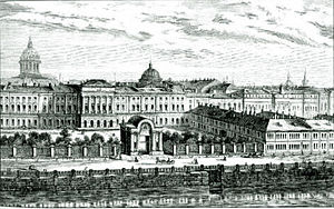 Herzen University - Old view of the Razumovsky Palace compound
