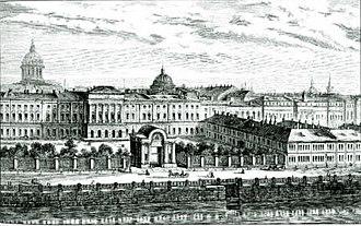 Herzen University - Old view of the Razumovsky Palace compound