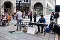 Red Hippo Band Performing at Sidewalk of Songgao Road, Xinyi District, Taipei 20160327.jpg