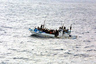 Refugee crisis - Ecuadorian refugees near Guatemala.