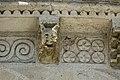 Reich geschmückt, die romanische Apsis (12. Jahrhundert) der Kirche Saint-Vivien-de-Medoc. 9.jpg