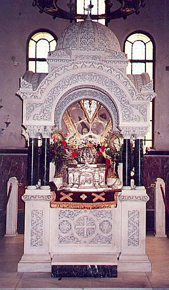 St Andrew's Cathedral, Patras - Relics of St Andrew, a donation by the Catholic Church in 1964