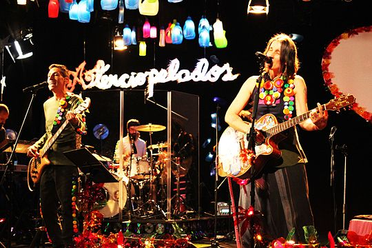 Aterciopelados is a Spanish-language rock band from Colombia. Relucientes y Rechinantes.jpg