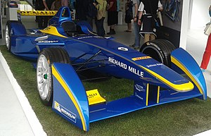 DAMS - The e.dams Formula E car on show at Battersea Park Street Circuit, June 2015