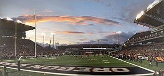 2017 Oregon State Beavers football team - Reser Stadium taken September 30th, 2017 from South End Zone