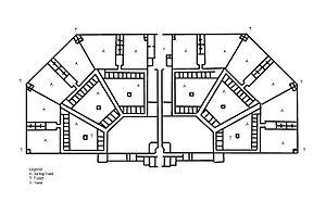 Richmond General Penitentiary - Architectural drawing of the Richmond General Penitentiary by Francis Johnston (1811)
