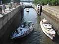 Rideau Canal Ottawa Locks with boats transiting 2.jpg