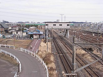 Rikuzen-Sannō Station - Image: Rikuzen Sanno Eki in 2008 01