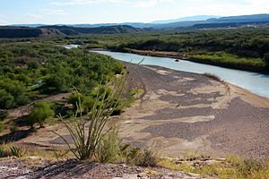Rio Grande - The Rio Grande at Big Bend National Park, on the Mexico–U.S. border