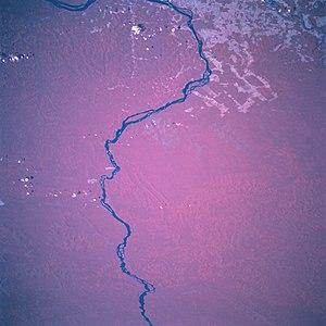 Rio Xingu visto do espaço.