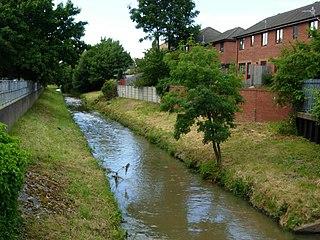 River Leen river in Nottinghamshire, United Kingdom
