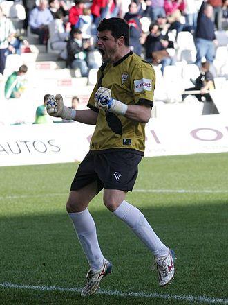 Raúl Navas - Navas celebrates a Córdoba goal in 2010