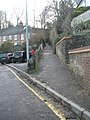 Road and footpath junction in Latimer Road - geograph.org.uk - 1605763.jpg
