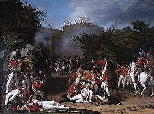 36th (Herefordshire) Regiment of Foot - The Death of Colonel Moorhouse at the Storming of the Pettah Gate of Bangalore, 1793, Robert Home