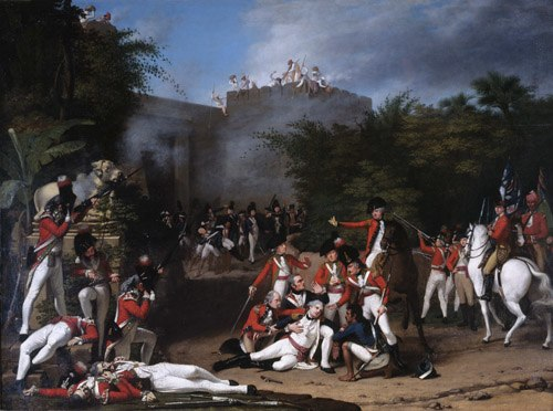 RobertHome - The Death of Colonel Moorhouse at the Storming of the Pettah Gate of Bangalore