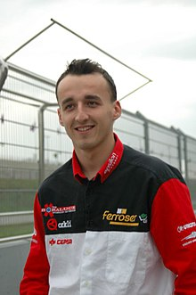 Wikipedia: Robert Kubica at Wikipedia: 220px-Robert_Kubica1