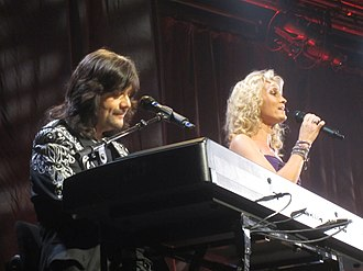 Robert Wells (composer) - Robert Wells and Maria Sköld (singer) in a commemorative concert for Charlie Norman at the Scalateatern, Stockholm in November 2013.