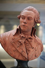 Bust of a severe-looking Robespierre