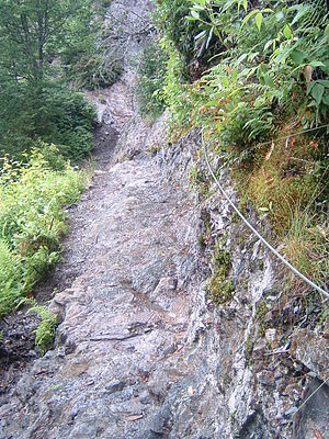 Alum Cave Trail - The Alum Cave Trail is very rocky and can be dangerous in wet weather
