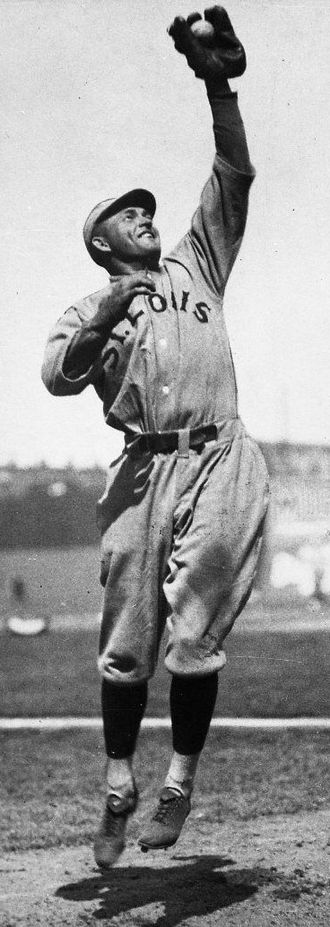 Catch (baseball) - Rogers Hornsby making a catch