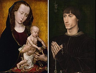 Diptych of Philip de Croÿ with The Virgin and Child