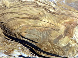 Round Mountain, Nevada - Image: Round Mountain gold mine, aerial