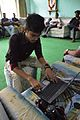 Rounik Ghosh Writing On WMF Etherpad - Wikimedia Meetup - AMPS - Kolkata 2017-04-23 6852.JPG