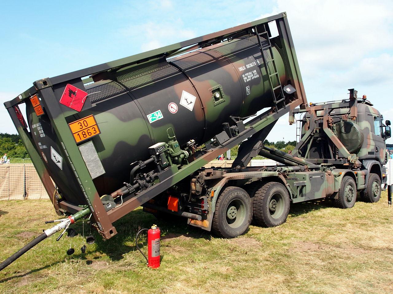 File Royal Dutch Army Scania Truck With Petrol Bowser