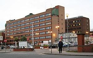 Royal Gwent Hospital - Cardiff Road entrance of the hospital