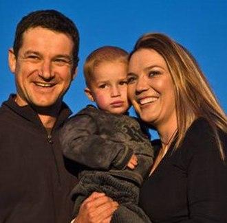 Rudie van Vuuren - Rudie van Vuuren, wife Marlice and son, Zacheo