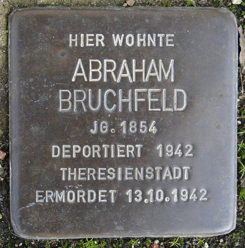 Ruesselsheim am Main Stolperstein Schäfergasse 20 Abraham Bruchfeld.jpg