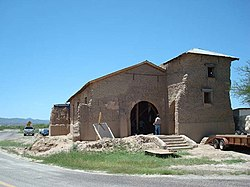 Ruins of Sacred Heart Mission along FM 170 in Ruidosa