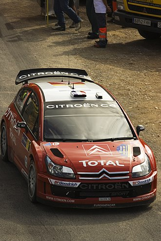 Total S.A. - Sébastien Loeb car with Total S.A. sponsorship.