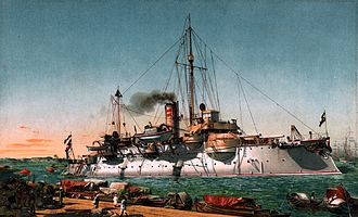 SMS Beowulf - Painting of Beowulf in 1902