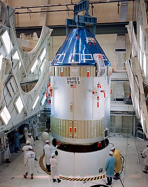 North American Aviation - The North American Apollo spacecraft being prepared for the Apollo 7 mission