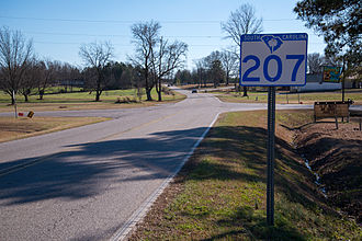 South Carolina Highway 207 - First sign for SC 207 after state line
