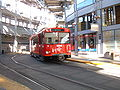 SD Trolley Blue line entering America Plaza station 5.JPG