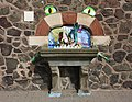 SO7845 - MSPCA fountain, Malvern station - Well dressing 2009 by Bob Embleton.jpg