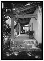 SOUTHWEST PORCH FROM SOUTHEAST - Whitsitt House, 5860 Lago Linda, Rancho Santa Fe, San Diego County, CA HABS CAL,37-RANSF,26-2.tif