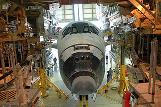 Orbiter Processing Facility - Discovery inside OPF-3 following the completion of mission STS-114