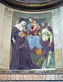 S M della Pace - cappella Ponzetti madonna, s Brigida e il cardinale (Peruzzi) 1270955.jpg