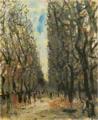 SaekiYūzō-1927-Jardin du Luxembourg.png
