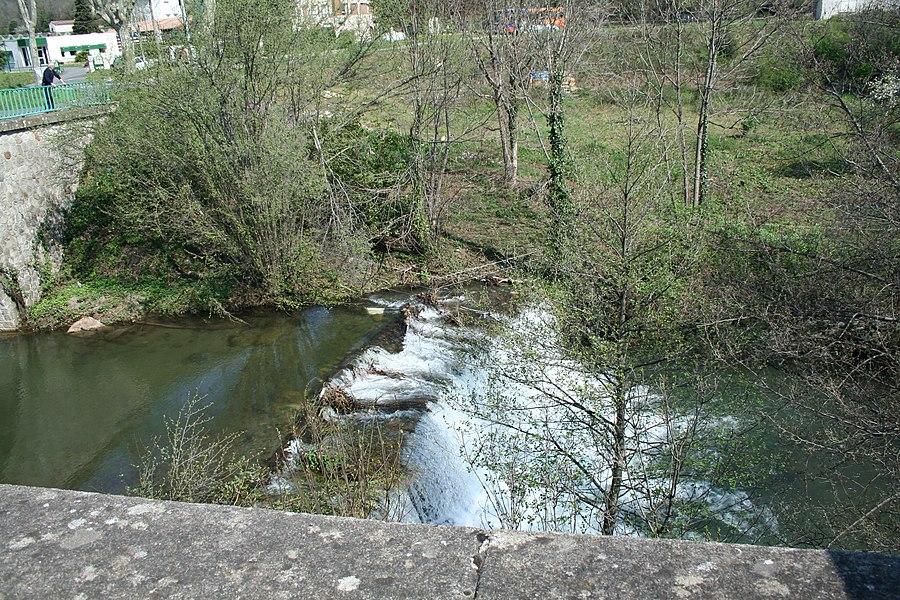 Saint-Geniès-de-Varensal (Hérault) - la rivière du Bouissou, près d'Andabre.