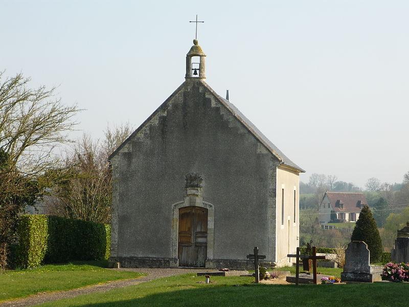 Chapelle de Saint-Raven et Saint-Rasiphe près de l'église Saint Vaast à Saint-Vaast-sur-Seulles (Calvados)